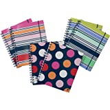 """Studio C In the Navy Ideal Notebook, 8.3"""" x 6.5"""", College Ruled, 120 Sheets, Assortment of 6 Notebooks (14637)"""