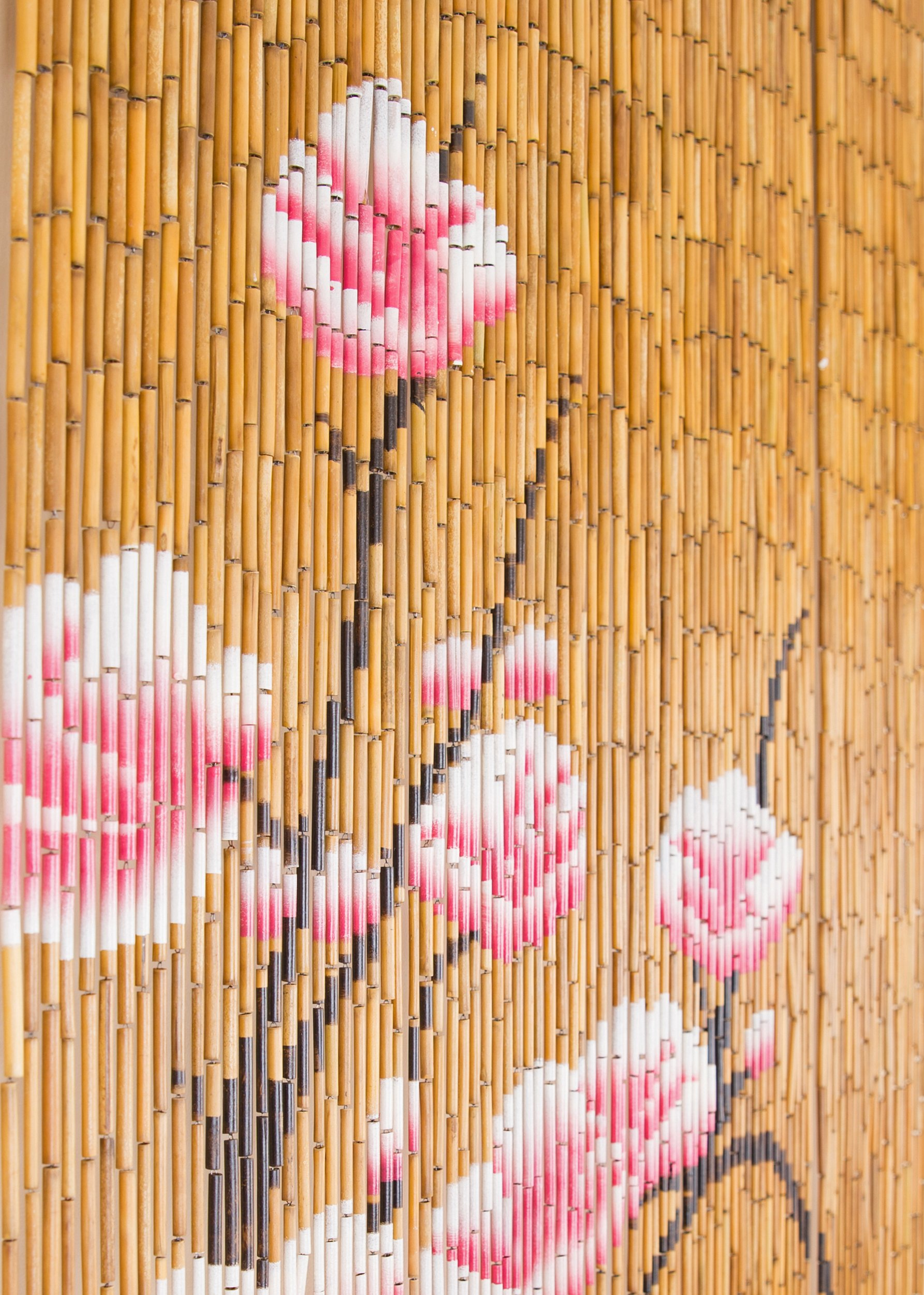 BeadedString Natural Bamboo Wood Beaded Curtain-90 Starnds-80 High-Boho Door Beads-Bohemian Doorway Curtain-35.5'' Wx80 H-Blossom by BeadedString (Image #5)