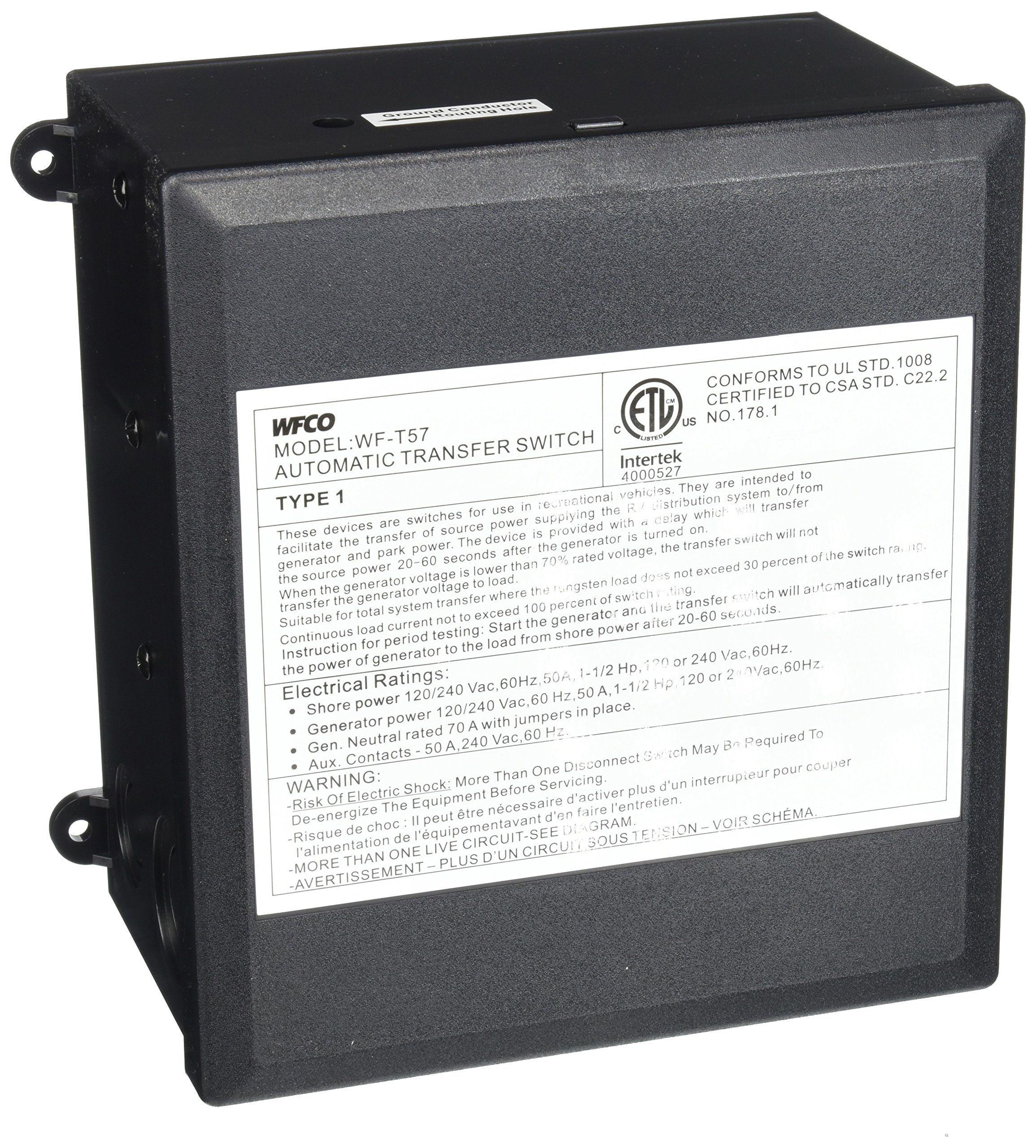 WFCO T57 50 Amp Transfer Switch by WFCO