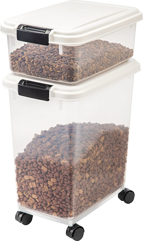 IRIS Airtight Pet Food Storage Container Combo Green IRIS USA 301086