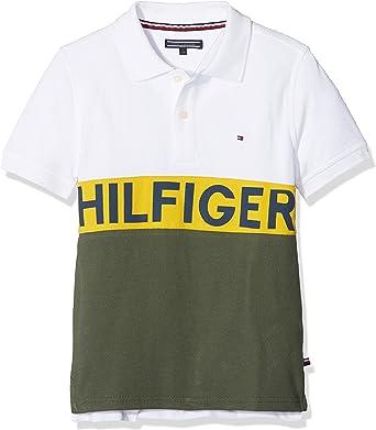 Tommy Hilfiger Wide Stripe Polo S//S Ni/ños