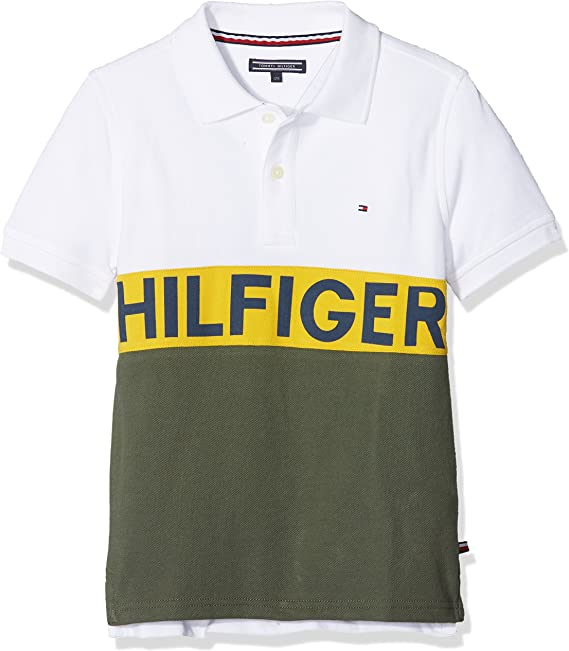 Tommy Hilfiger Stripe Block Polo S/S Niños: Amazon.es: Ropa y ...