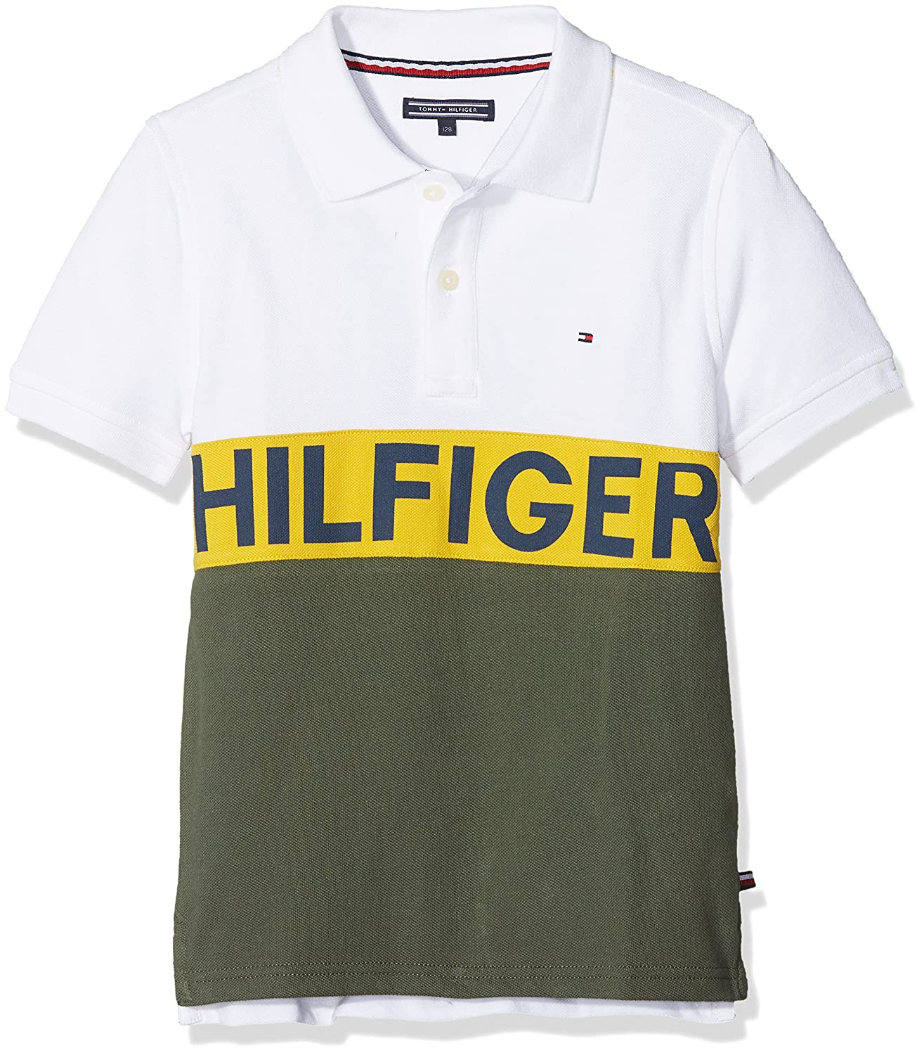 Tommy Hilfiger Jungen Poloshirt Stripe Block Polo S/S KB0KB03649