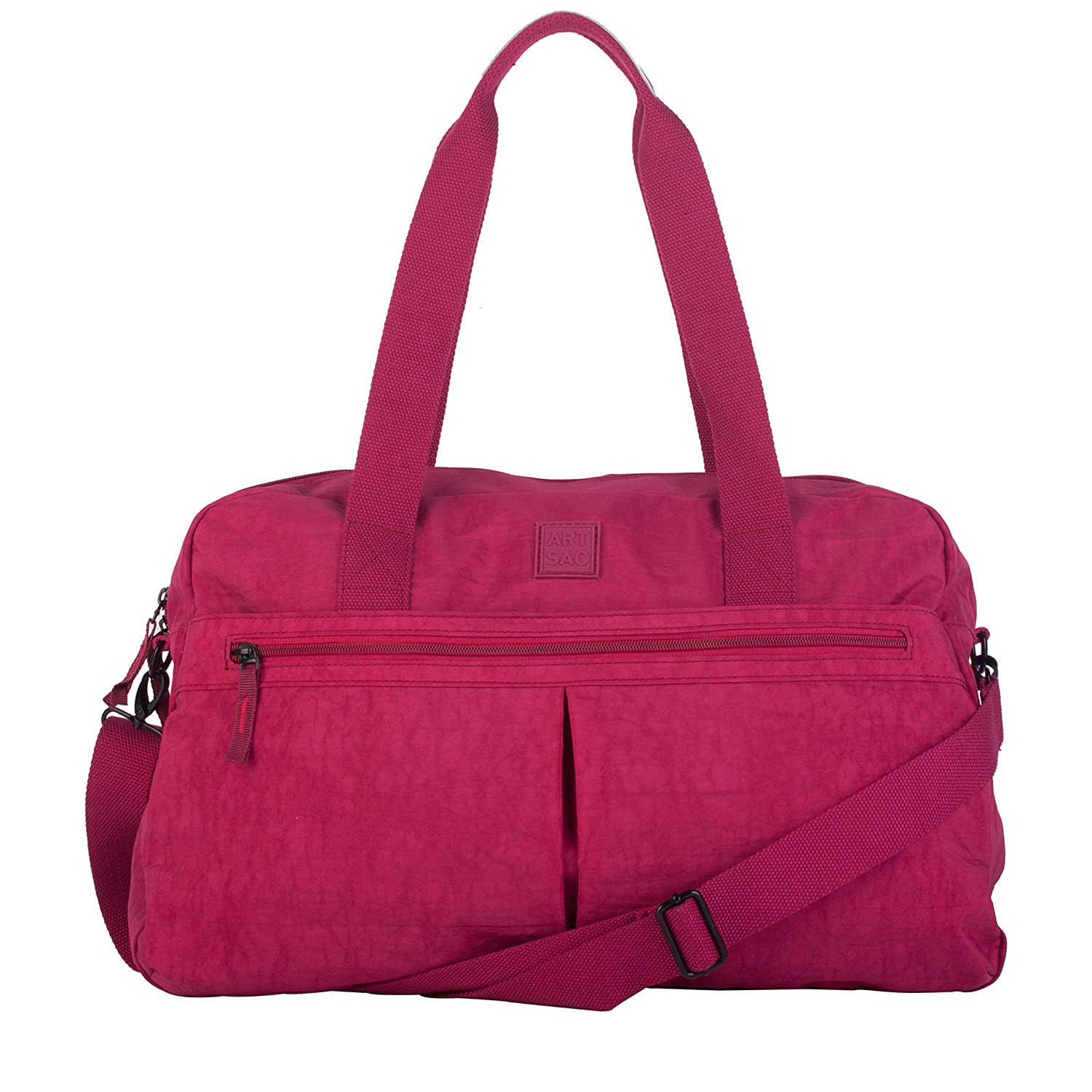 Plum Artsac Unisex-Adult Twin Strap Front Pocketed Holdall Top-Handle Bag Pink