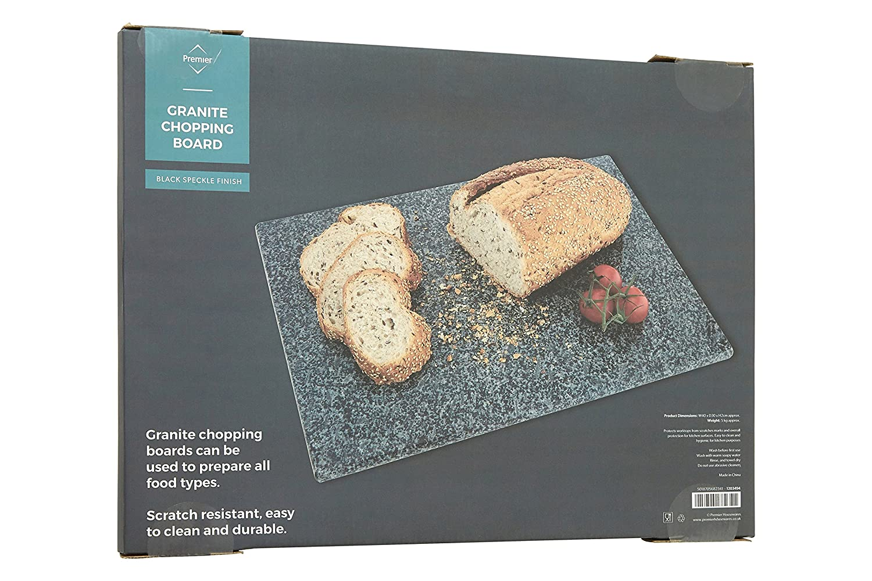 Black Premier Housewares Speckled Granite Chopping Board 40 x 30 cm