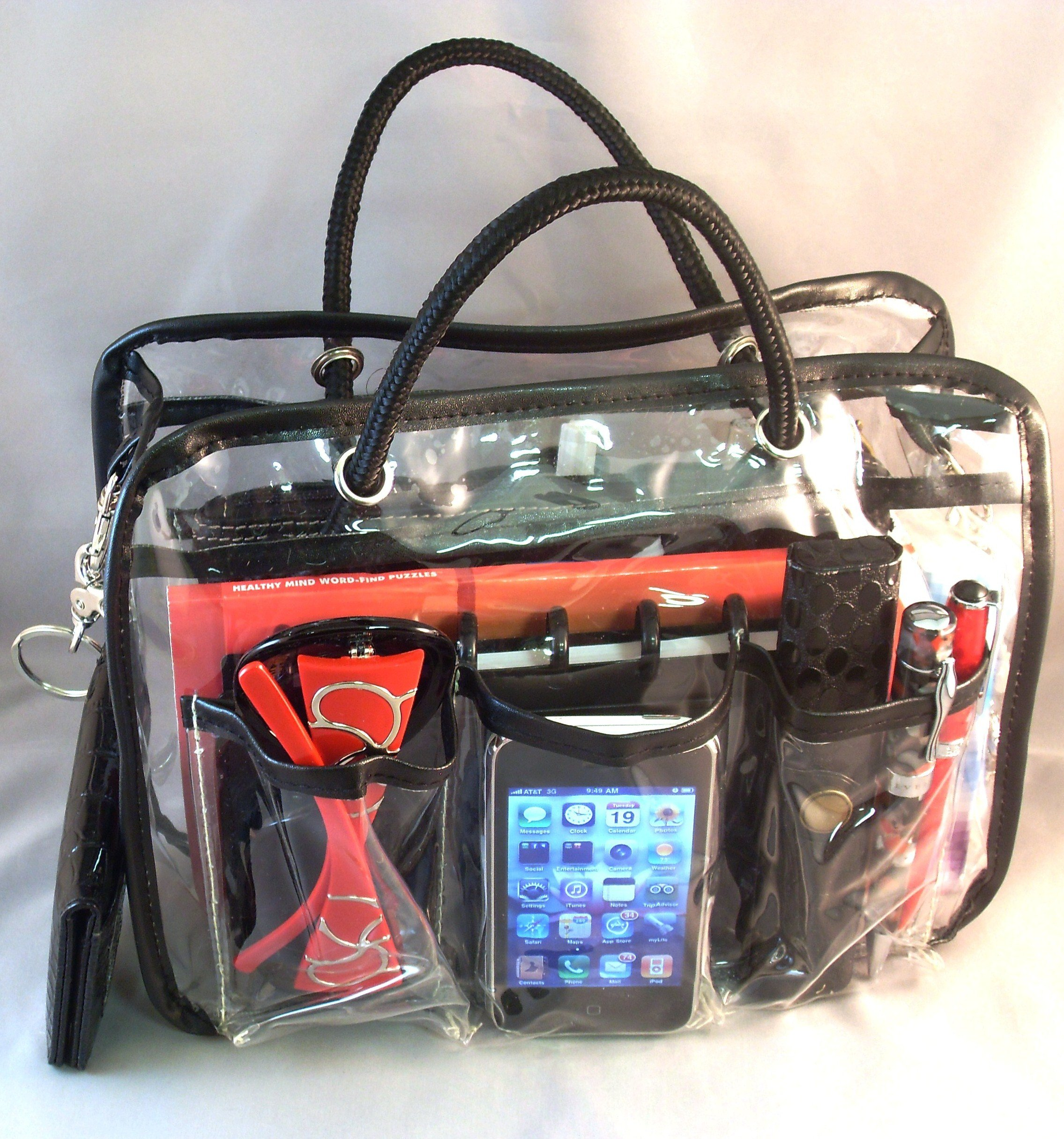 3 6 day delivery lexie clear pvc handbag bag purse travel cosmetic make up tote. Black Bedroom Furniture Sets. Home Design Ideas