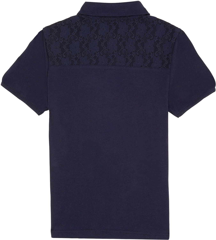 French Toast School Uniform Girls Short Sleeve Lace Yoke Polo Shirt
