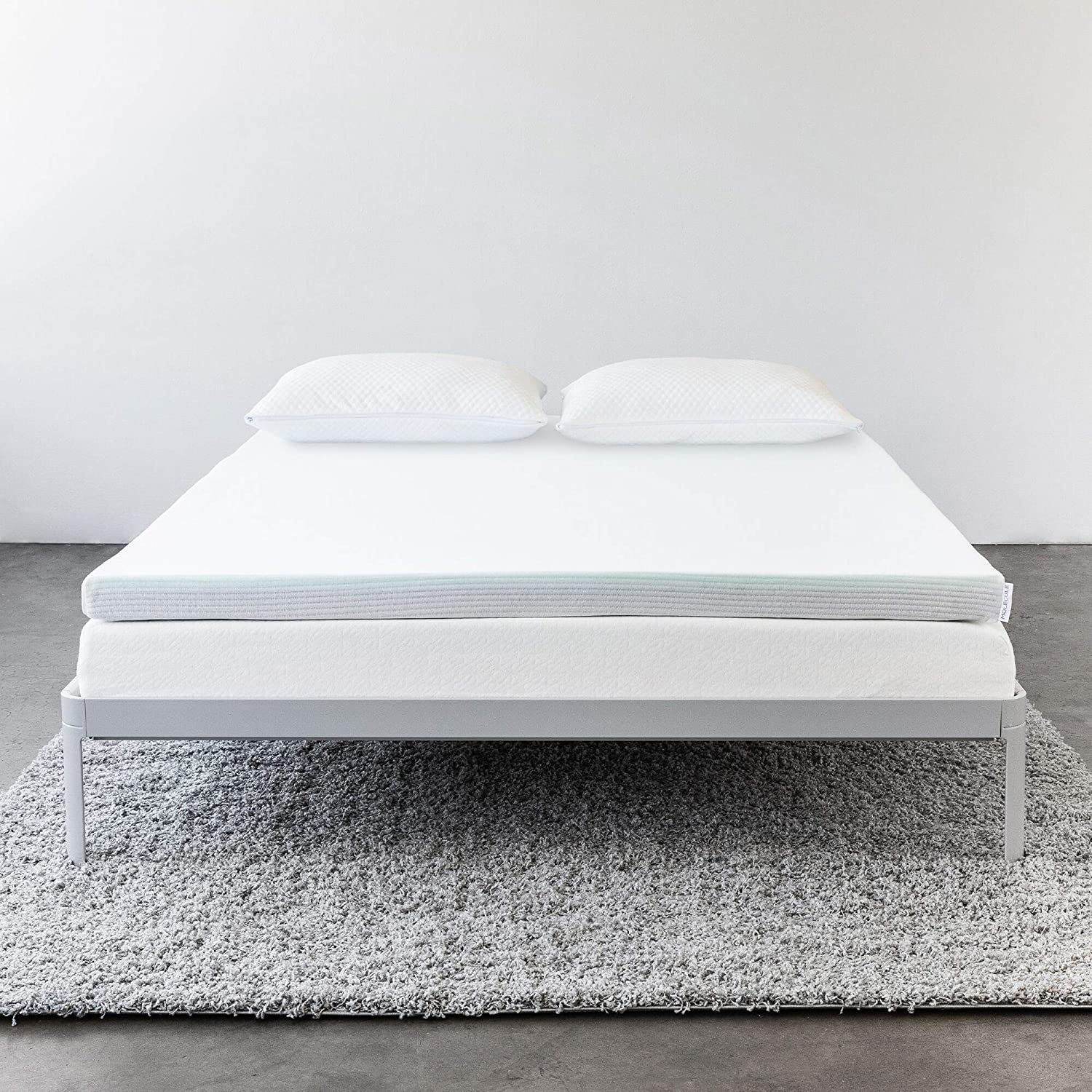 Molecule Triple-Zone Mattress Topper - Engineered for Cooling Comfort, Performance and Recovery with Optimal Support and Pressure Relief (Queen)