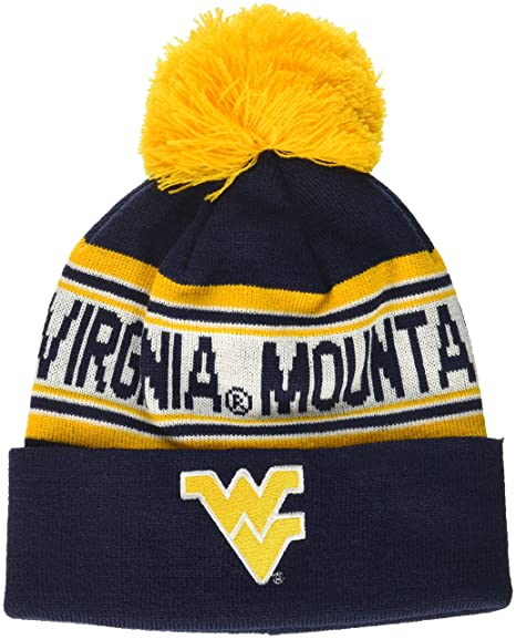 buy popular ea8ab 9e1bc Buy NCAA by Outerstuff NCAA West Virginia Mountaineers Kids   Youth Boys  Jacquard Cuffed Knit Hat w Pom, Dark Navy, Youth One Size Online at Low  Prices in ...