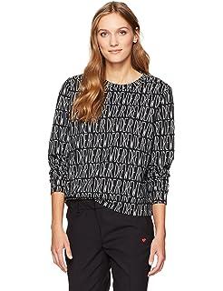 869a583477 Dear Drew by Drew Barrymore Women s Broome St Long Sleeve Crew Neck  Sweatshirt
