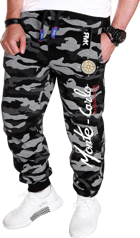RMK Herren Jogginghose Trainingshose Sporthose Jogging Hose Training Fitness Sweatpants Camouflage H.538