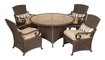 La Z Boy Outdoor Lake Como 5 Piece Resin Wicker Patio Furniture Dining Set Part 95