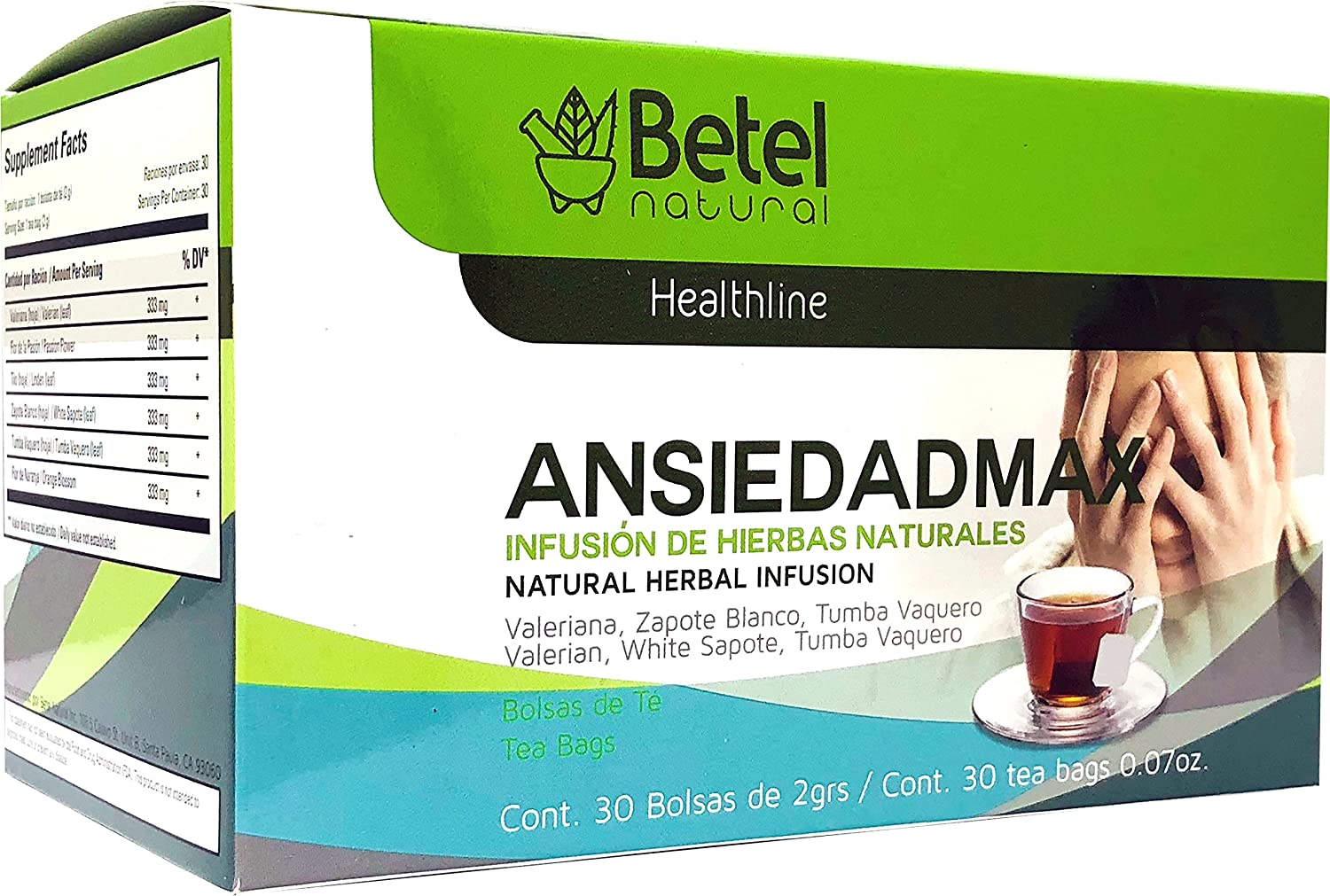 Amazon.com: Ansiedadmax Tea by Betel Natural - Natural ...