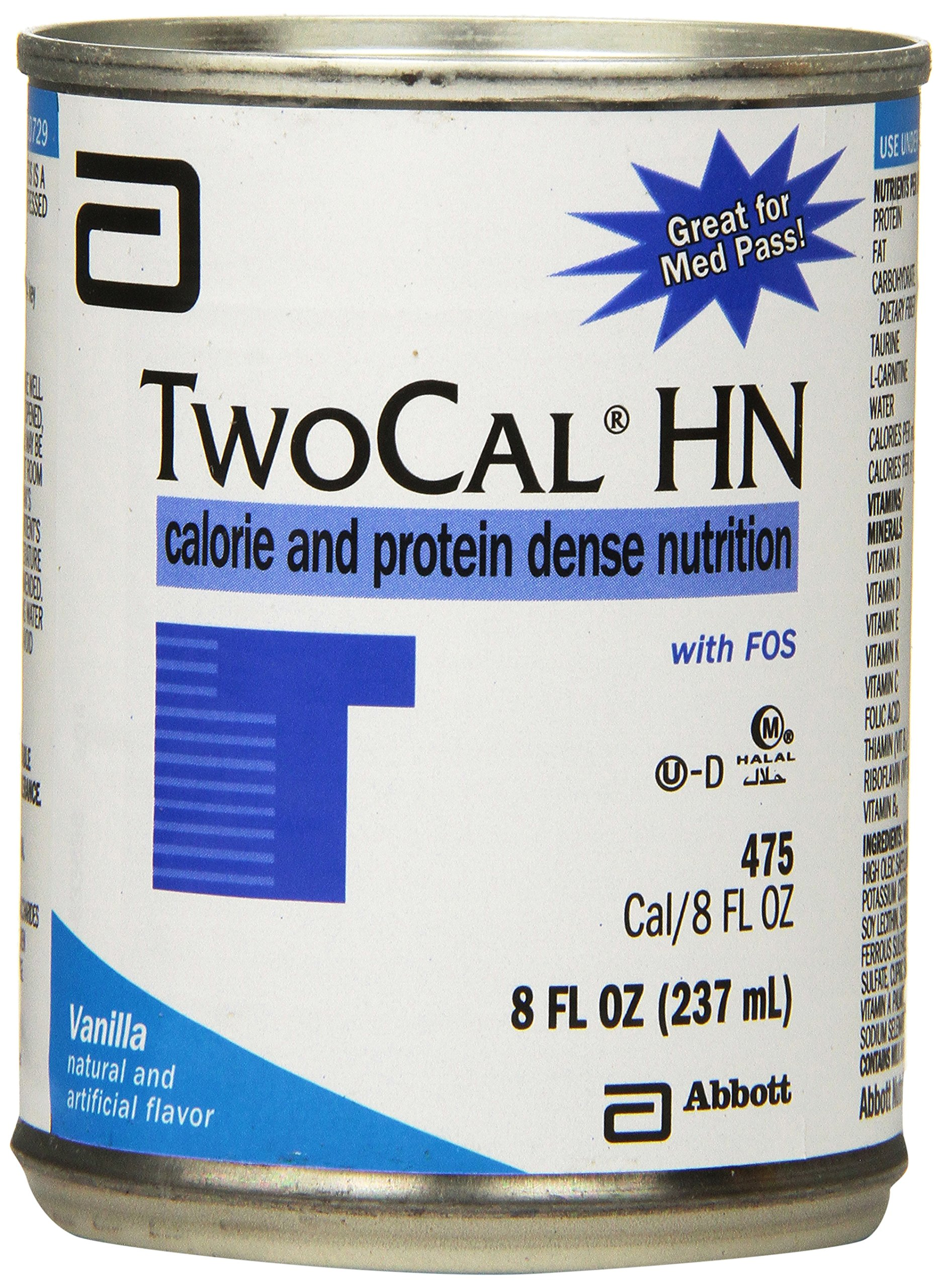 Twocal- HN High Nitrogen Liquid, Vanilla by Ross Nutritional, #00729 - 8 Oz / Can, 24 Cans / Case