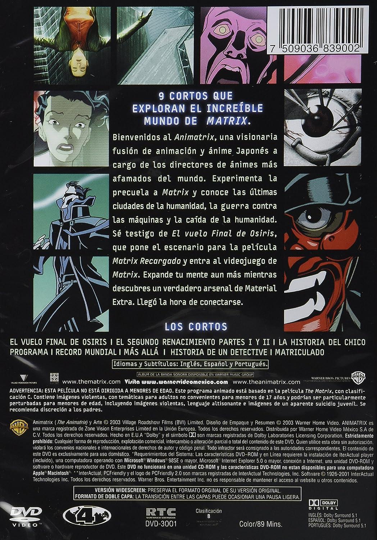 Amazon.com: Animatrix , The Animatrix , Pelicula Dvd: Movies ...