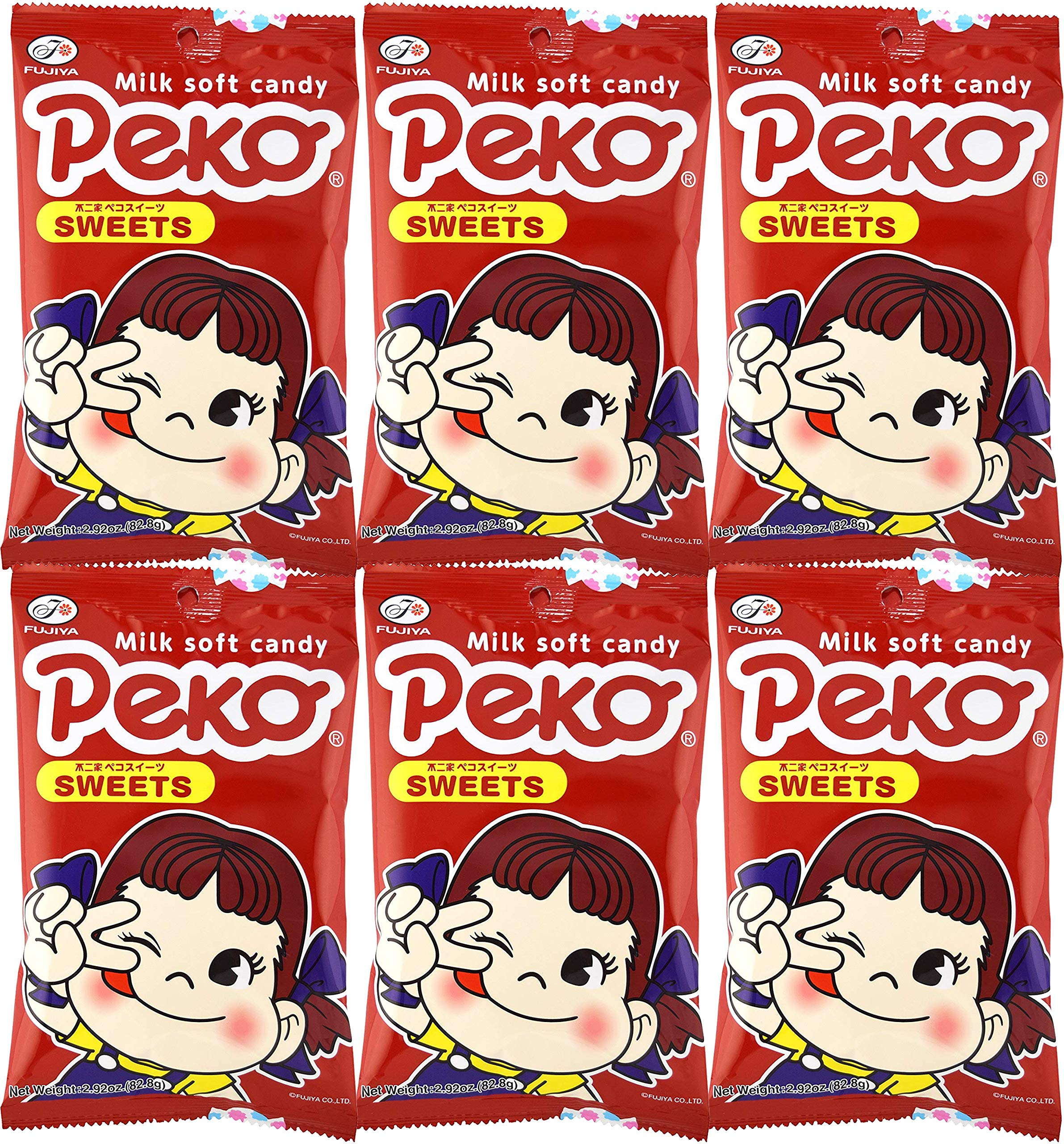 Fujiya Peko Sweets 2.92oz (6 Pack) by Fujiya