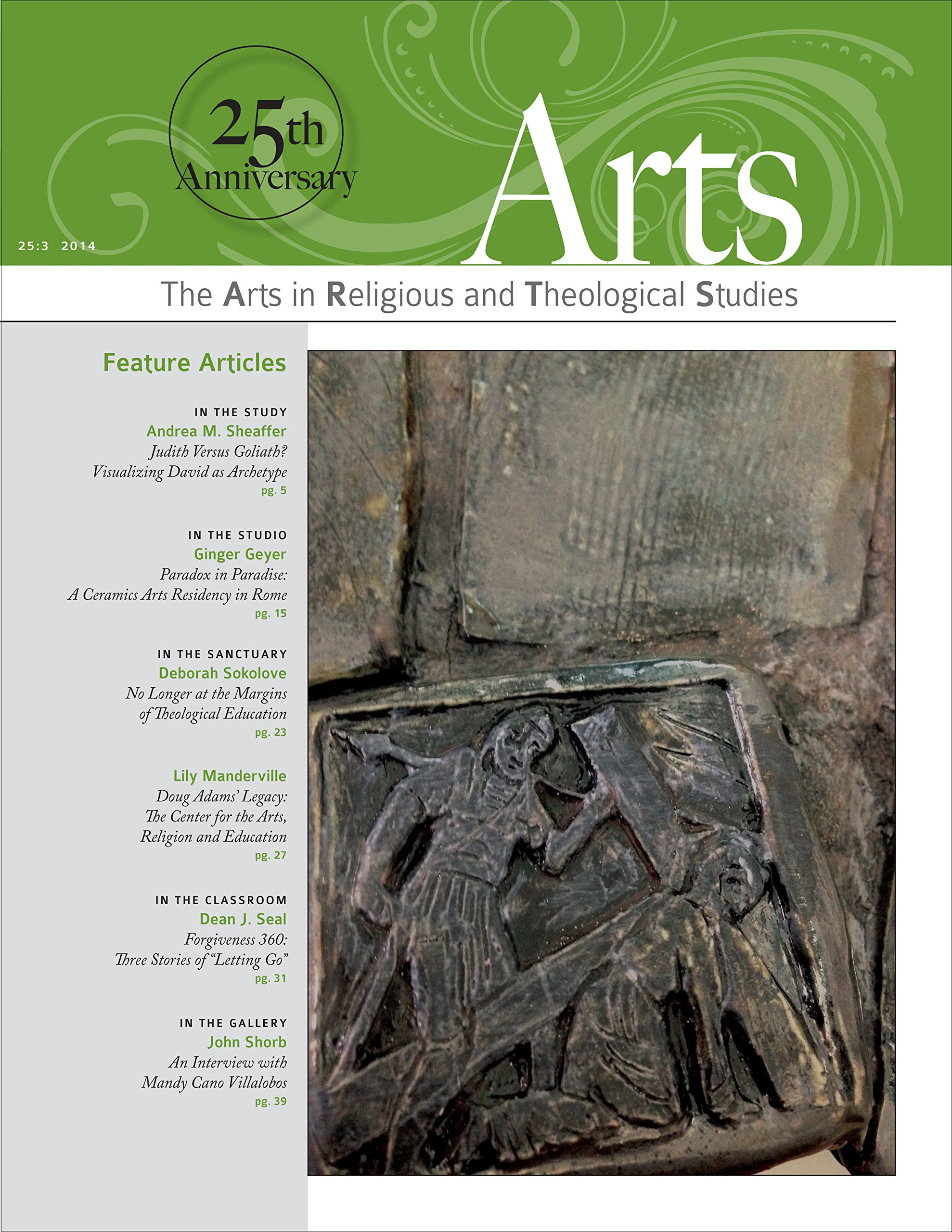ARTS: The Arts in Religious and Theological Studies (vol. 25, no. 3), July 2014 pdf epub