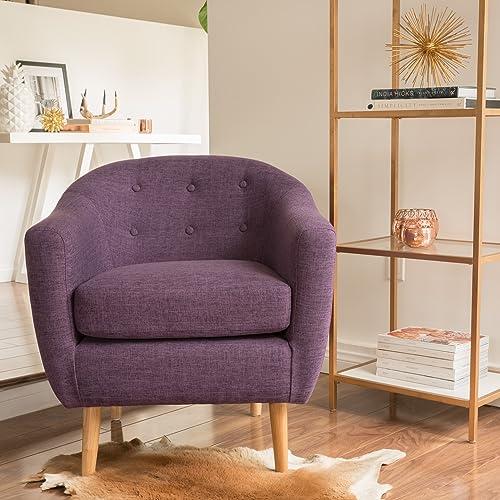 Christopher Knight Home Naveen Fabric Metropolitan Club Chair, Muted Purple