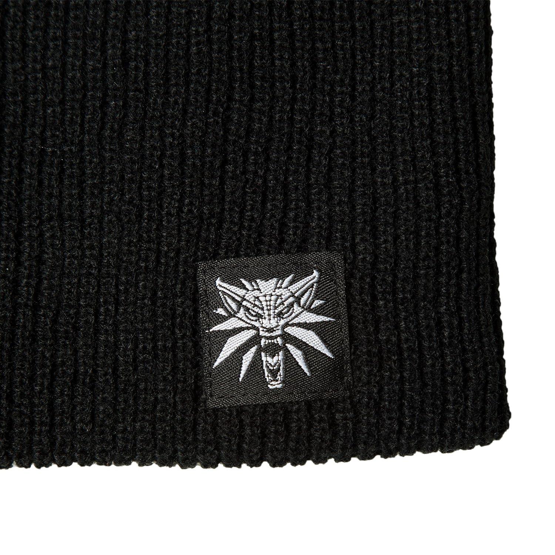 2620d29b9a6 Amazon.com  JINX The Witcher 3 White Wolf Medallion Knitt Slouch Beanie  (Black