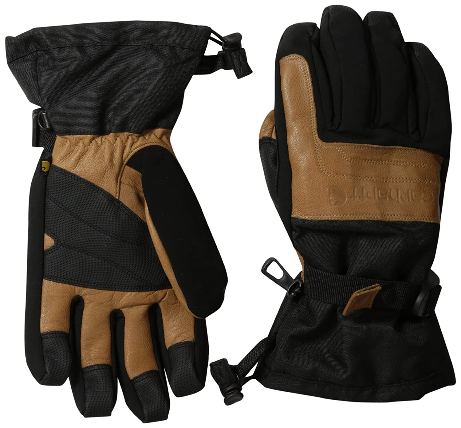 Carhartt Men's Cold Snap Insulated Work Glove, Black/Barley, Small A505