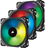 Corsair 120 mm Premium Magnetic Levitation RGB LED Fan - Black (Pack of 3)