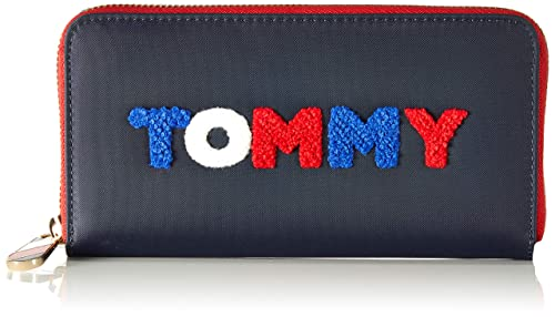 Tommy Hilfiger - Poppy Lrg Za Wallet Print, Carteras Mujer, Azul (Navy/