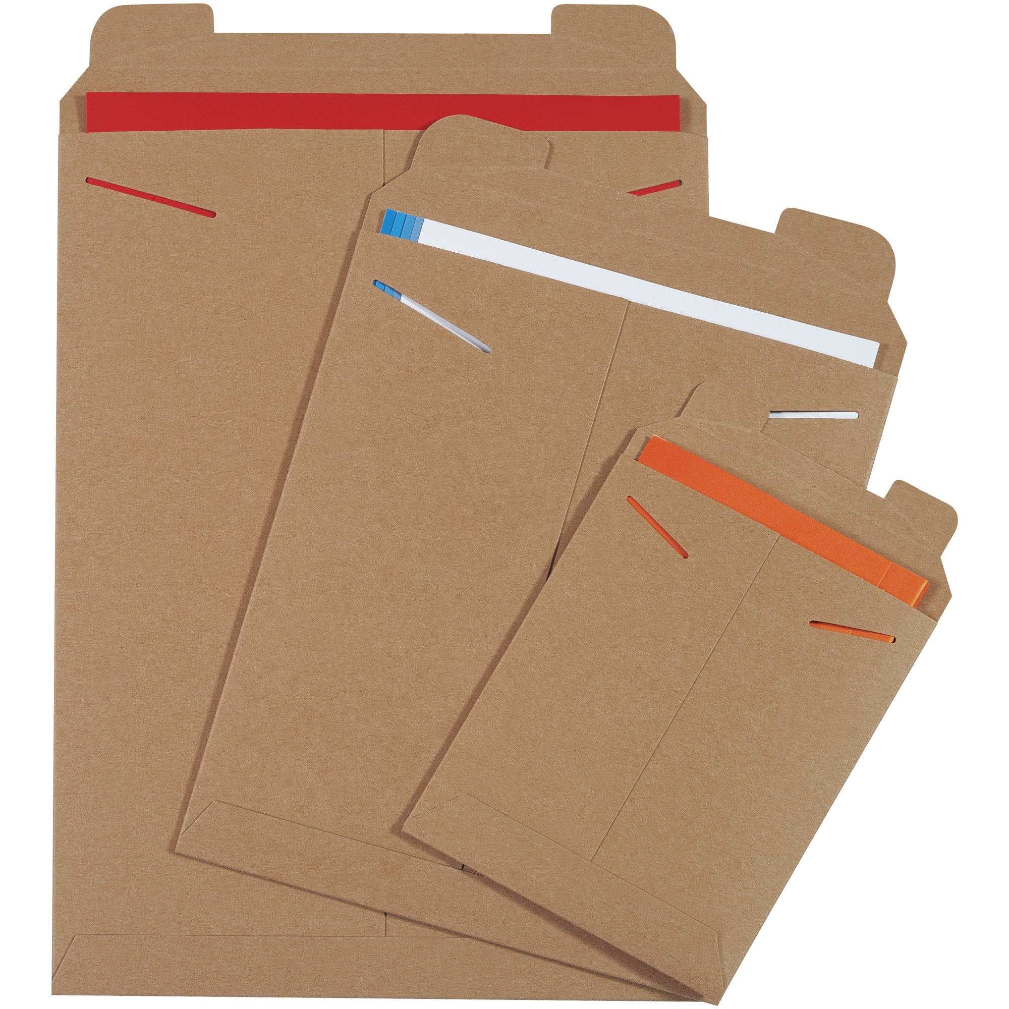 Aviditi RM5 Chipboard Flat Mailer, 12-1/4'' Length x 9-3/4'' Width, 0.038'' Thick, Kraft (Case of 100) by Aviditi (Image #1)
