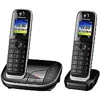 Panasonic KX-TGJ322GB Familien-Telefon mit Anrufbeantworter, zusätzliches Mobilteil, Schwarz