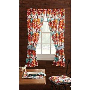 Pioneer Woman Kitchen Curtain and Valance 2pc Set, Flea Market