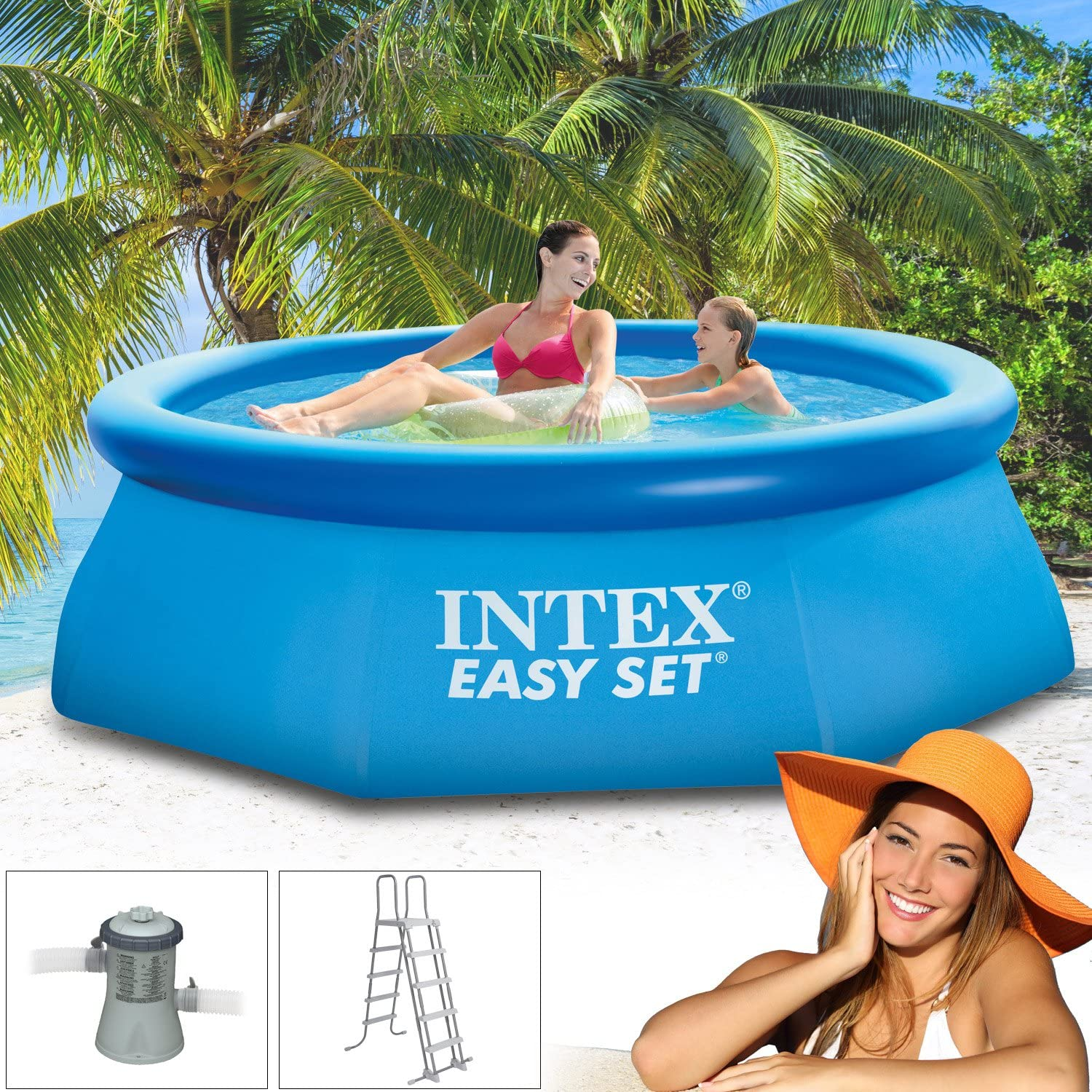 Intex 305 x 91 cm Easy Set con piscina incl. Bomba de filtro 2271 ...