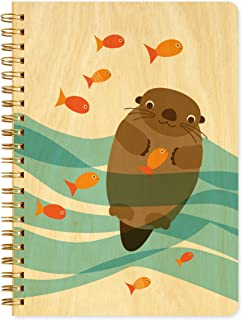 product image for Otter Journal with Real Wood Covers