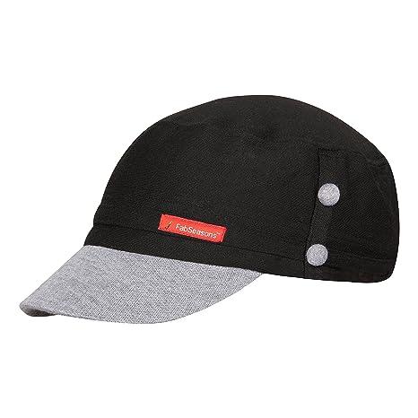 72dea52aa03 Buy FabSeasons Unisex Cotton Cap (Grey) Online at Low Prices in ...