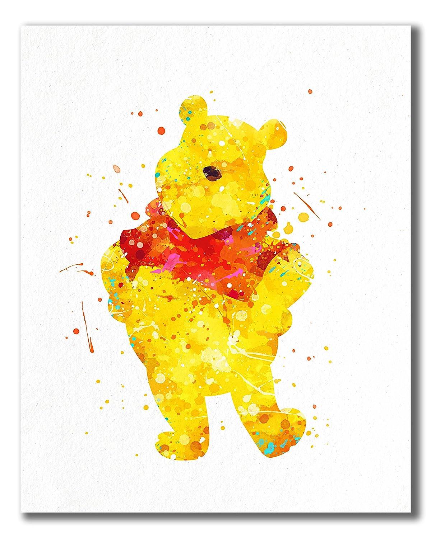 Amazon.com: Winnie the Pooh Watercolor Prints - Nursery Wall Art ...