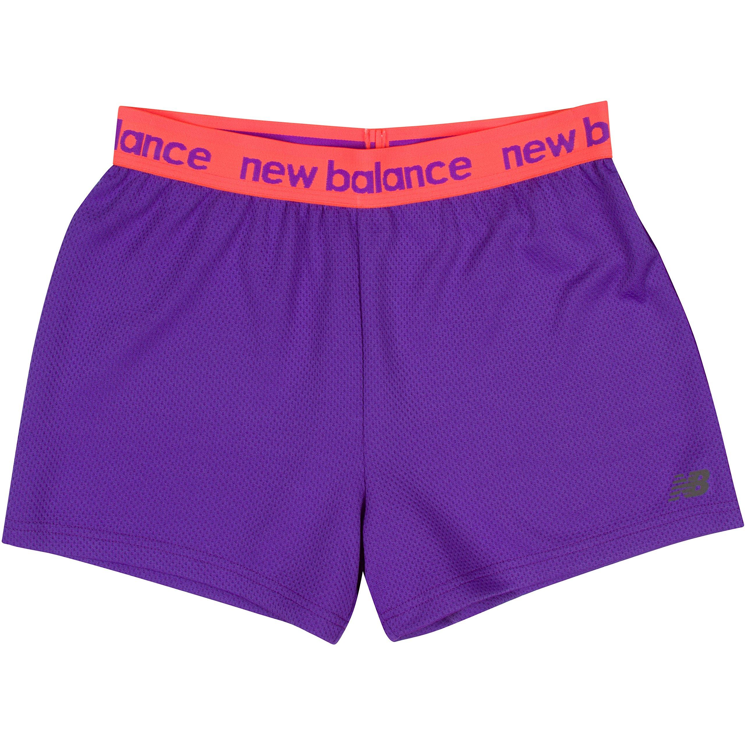 New Balance Big Girls' Athletic Shorts, Violet, 16