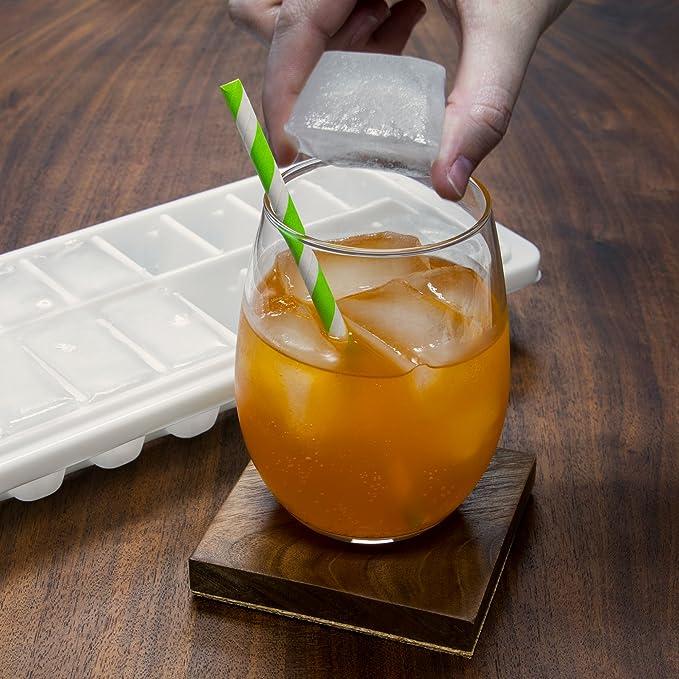 16 ranura bandeja cubito de hielo - fácil liberación blanco ...