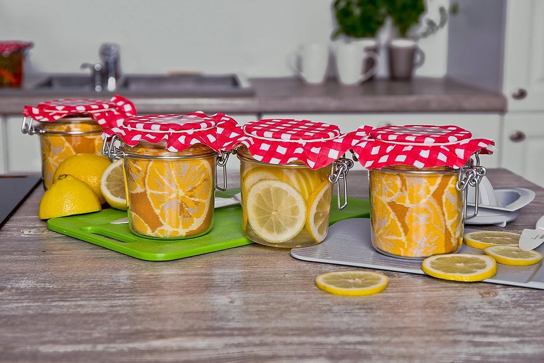 Cool Cadeau et Surprise! Fabriqu/ées en UE Haute Qualit/é de Coton dOEKO-TEX JAR SOCKS pour Hommes et Femmes Color/ées 2 paires de Chaussettes de Pot en forme de Citrons et Pois avec des Carottes