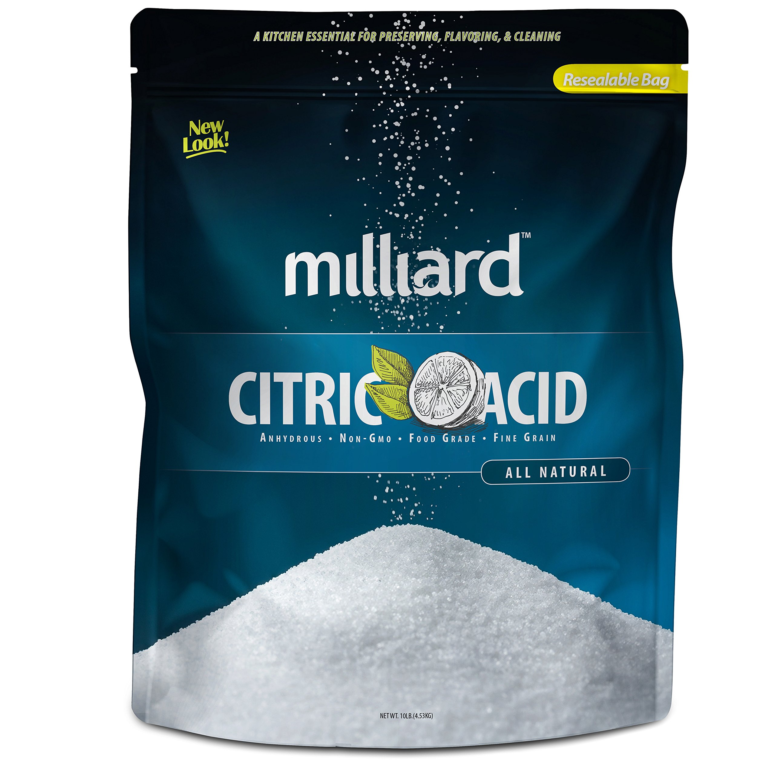Milliard Citric Acid - 10 Pound - 100% Pure Food Grade NON-GMO (10 Pound)