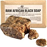 African Black Soap Bar with Shea Butter 1 Pound - Face, Body Wash, Dandruff Shampoo, Moisturizer, Toner, Acne Prone, Skin Moisturizer for Eczema, Clarifying Mud Mask, Natural from Ghana