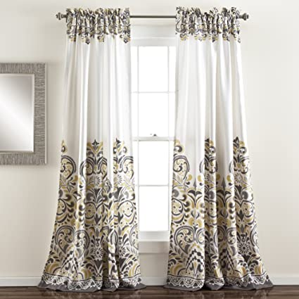 Lush Decor Clara Room Darkening Window Curtain Panel Pair 84 Inch X 52