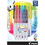 Pilot FriXion Colors Erasable Marker Pen, Bold Point, Assorted Ink, 12-Pack  (44155)