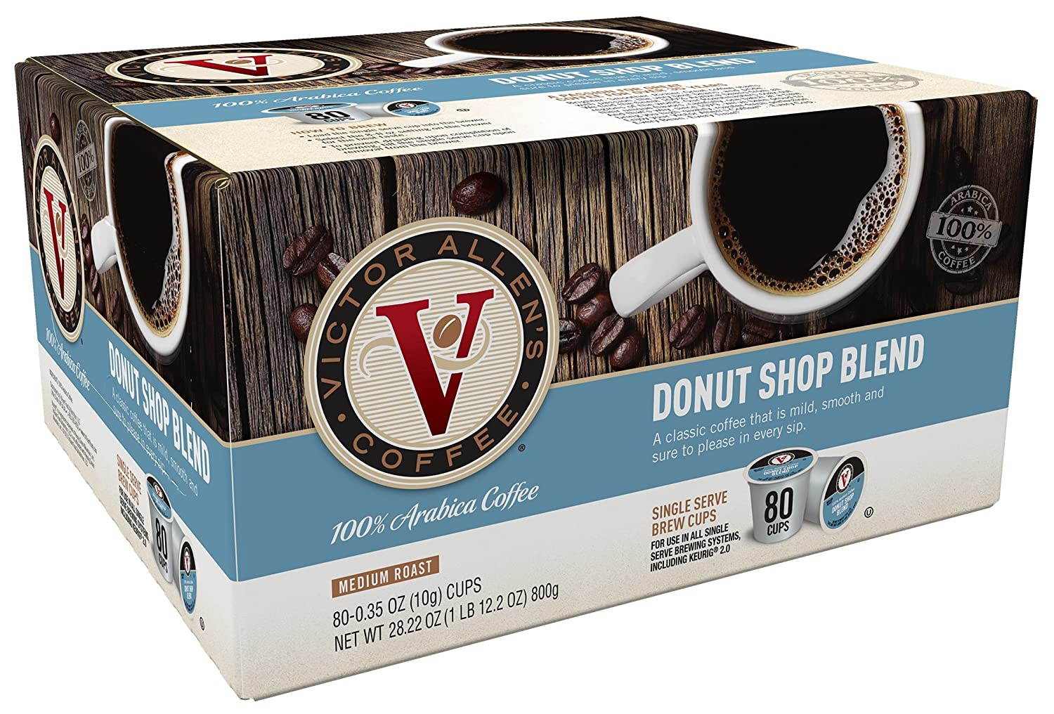 Amazon.com: Victor Allen Coffee, French Roast Single Serve K-cup ...