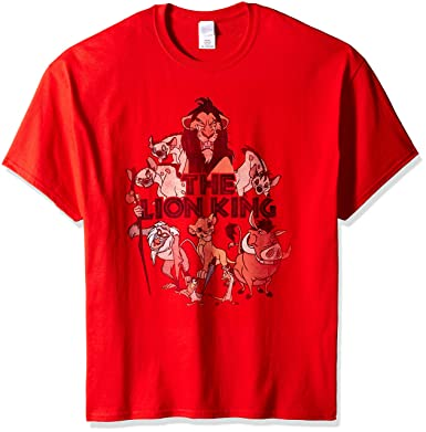 37d400e10927 Amazon.com: Disney Men's Lion King Scar Group T-Shirt: Clothing