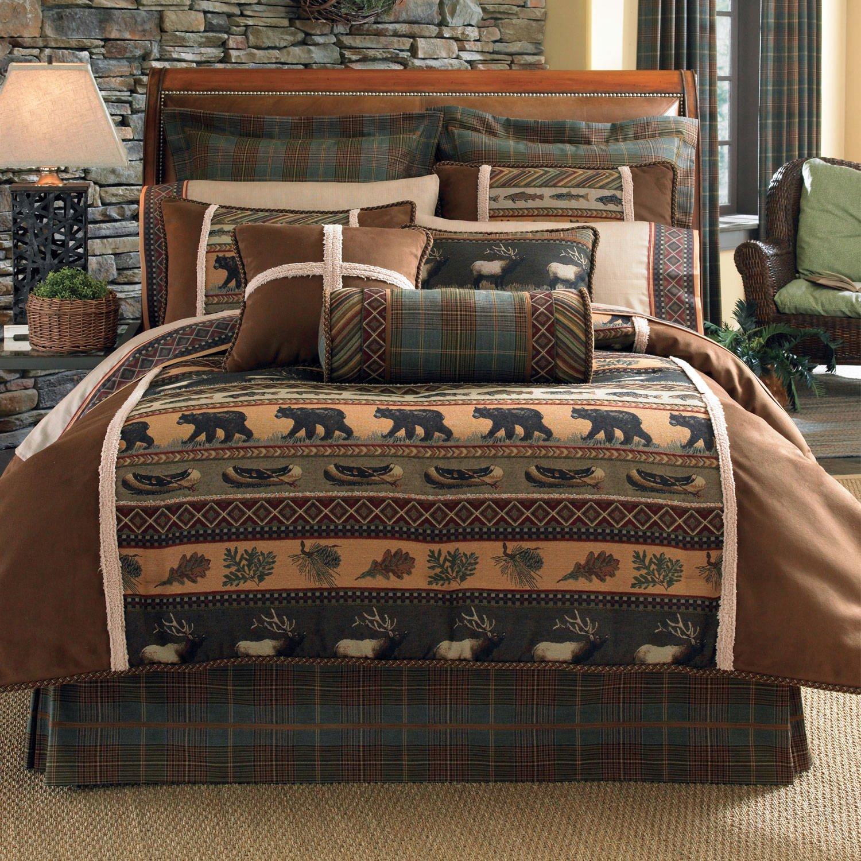 Croscill Caribou Comforter Set, King, Multicolor