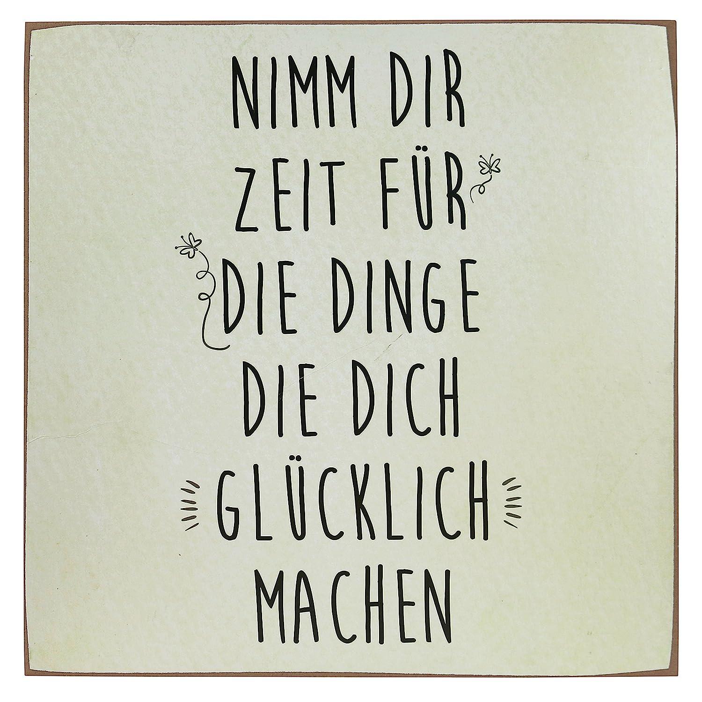 Woodpassion Wandbild Holzschild B-Ware Nimm Dir Zeit Für Die Dinge ...