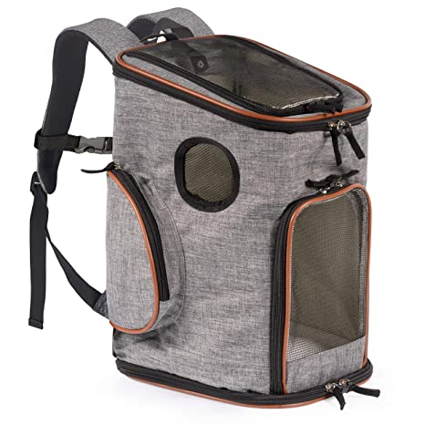 5297c76297 Pawfect Pets Pet Carrier Backpack for Cats and Toy Breed/Extra Small Dogs-  Airline