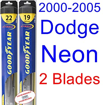 2000 – 2005 Dodge Neon hoja de limpiaparabrisas de repuesto Set/Kit (Goodyear limpiaparabrisas