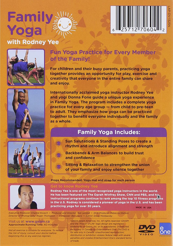 Amazon com: Yoga For Kids: Family Yoga With Rodney Yee