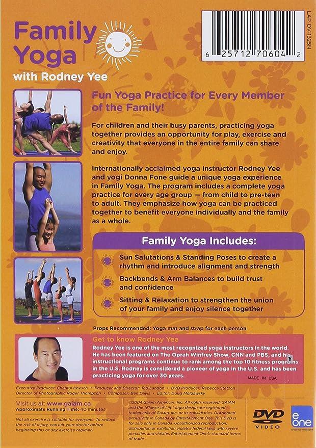 YOGA FOR KIDS: FAMILY YOGA WITH RODNEY YEE: Amazon ca: DVD