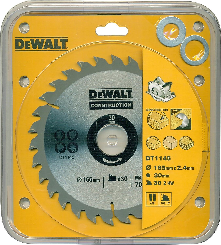 DeWalt DT1145-QZ Bau Kreiss/ägeblatt 165x30x2.4 30WZ 10/°