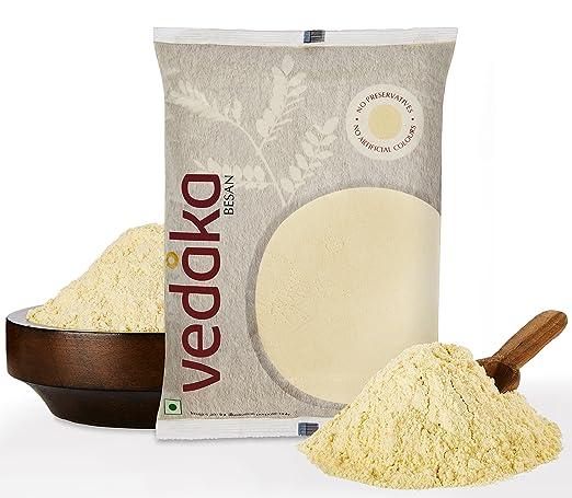 Amazon Brand - Vedaka Fine Gram Flour (100% Chana Fine Besan), 1 kg